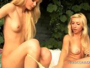 Doua fete blonde isi dau limbi pe pizda si pe gaura curului